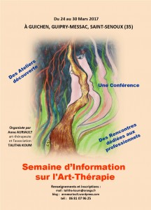 Affiche mars 2017 Semaine Art-Thérapie 1